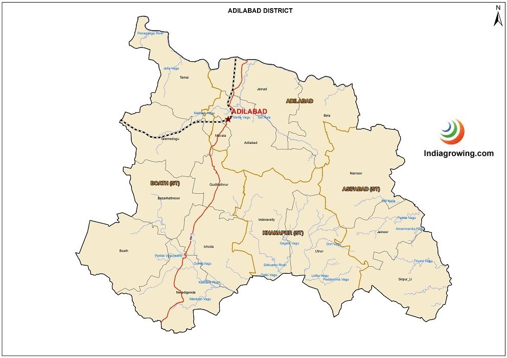 Adilabad District Map