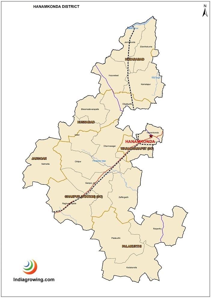Hanamkonda District Mandals Map