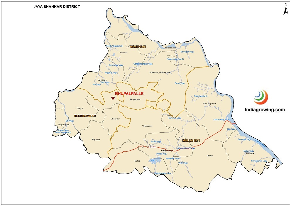 Jayashankar District Map