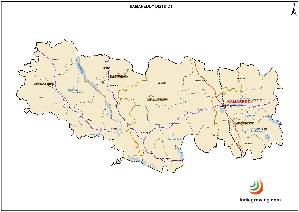 Kamareddy District Map