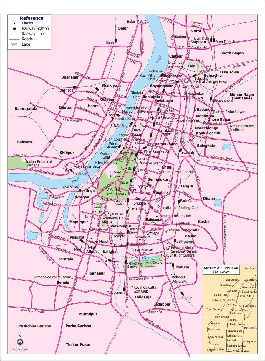 Kolkata District Blocks Map