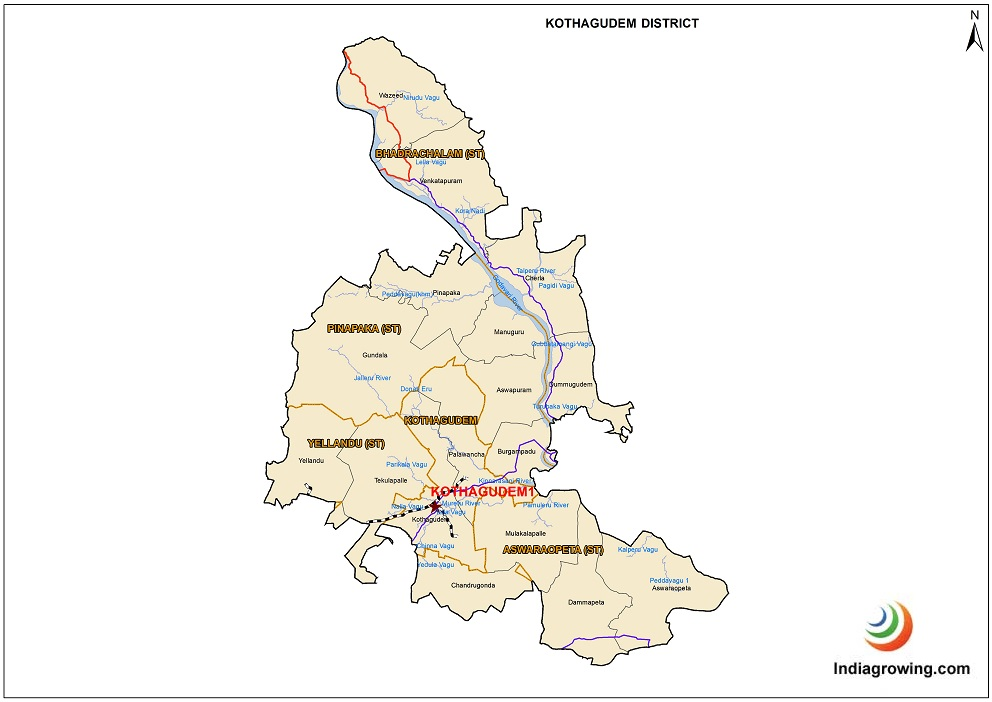 Kothagudem District Map