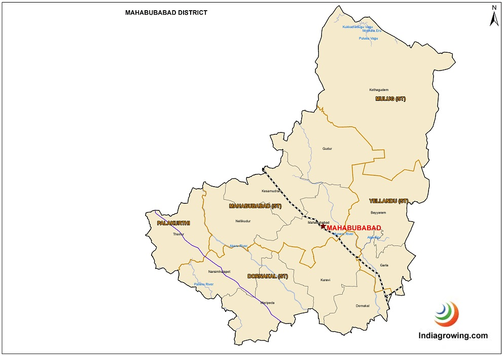 Mahabubabad District Map