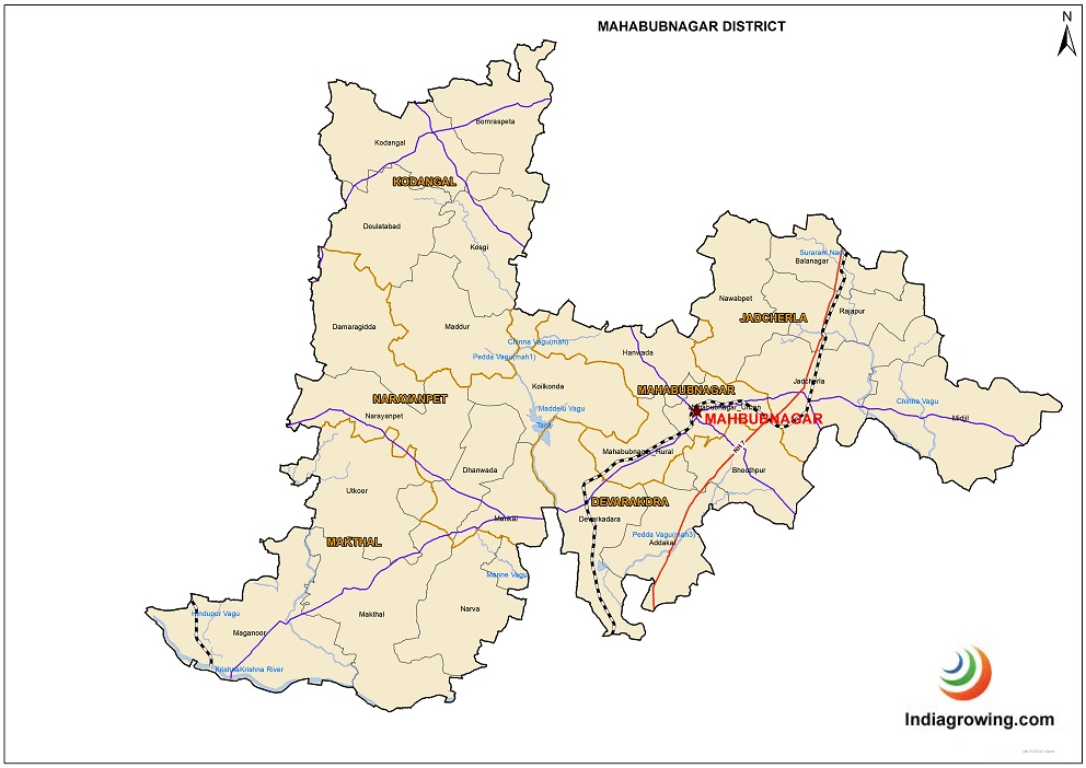 Mahabubnagar District Map