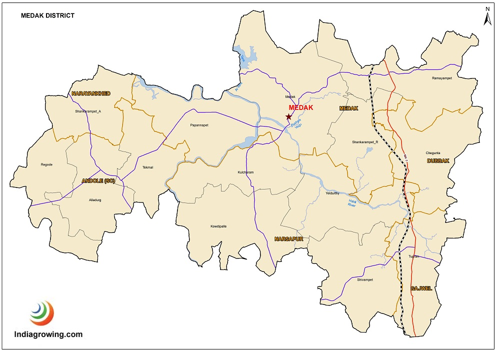 Medak District Map