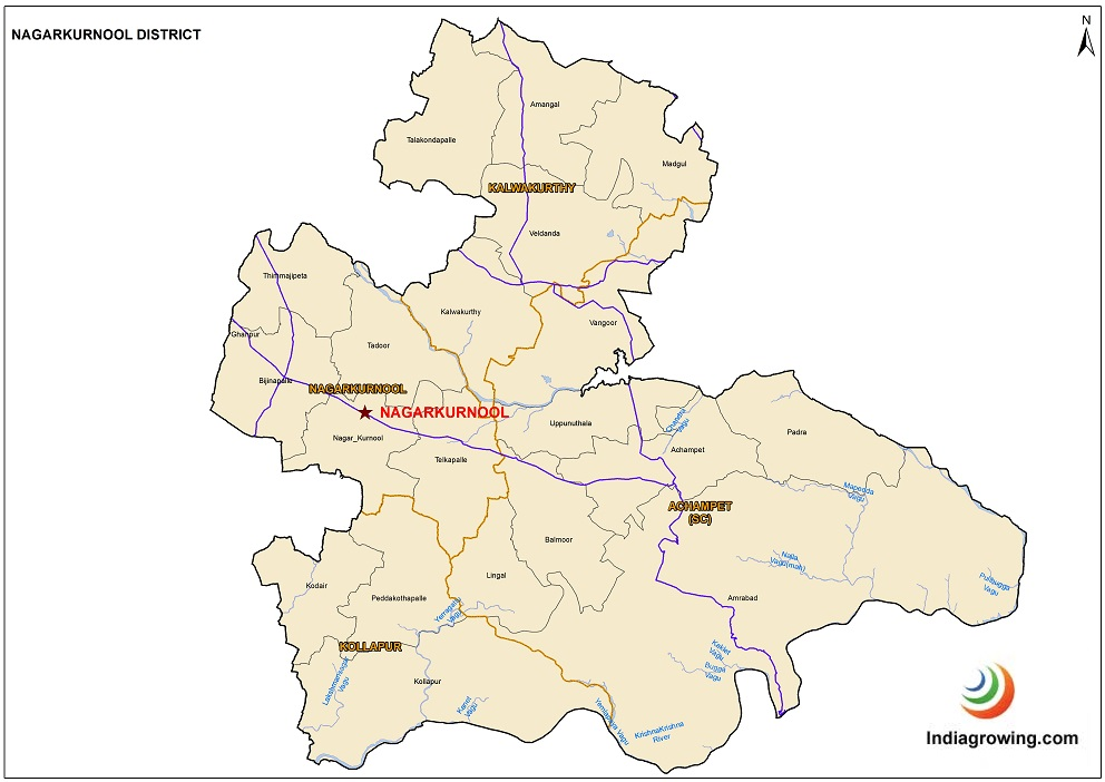 Nagarkurnool District Map