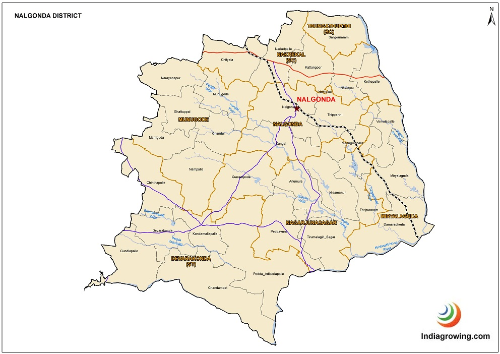 Nalgonda District Mandals Map