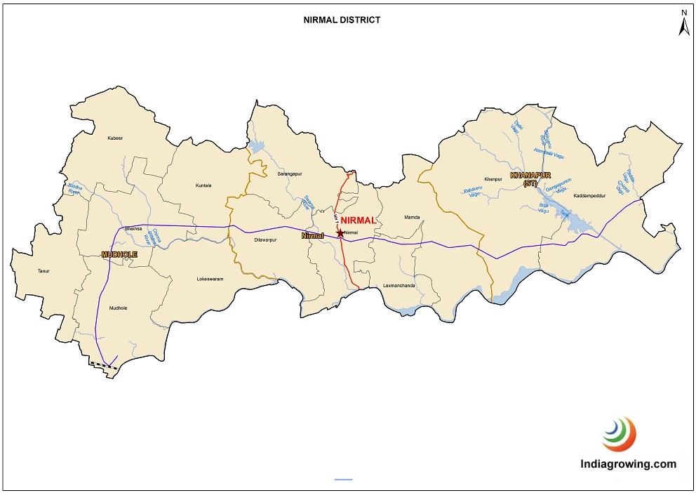 Nirmal District Mandals Map