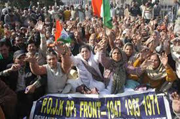 PoK refugees hold protests in Jammu