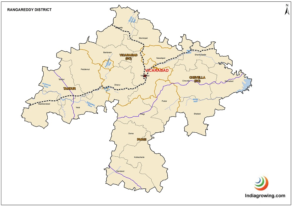 Ranga Reddy District Mandals Map