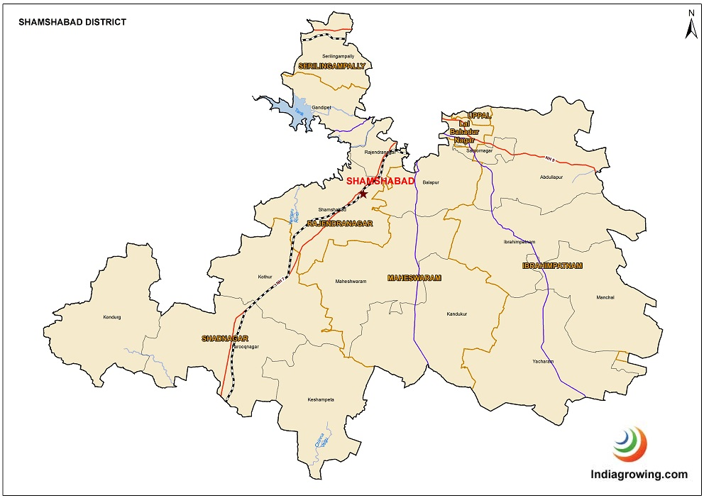 Shamshabad District Map