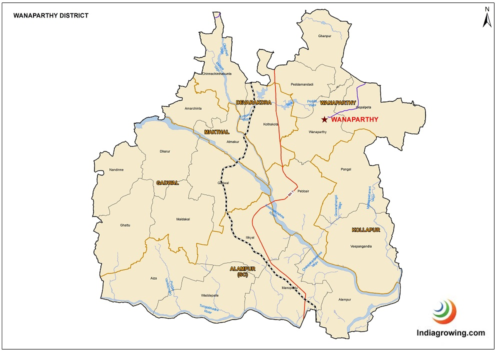 Wanaparthy District Mandals Map