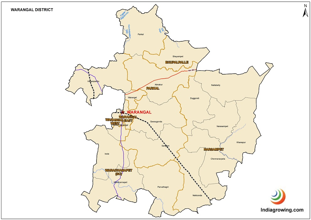 Warangal District Map