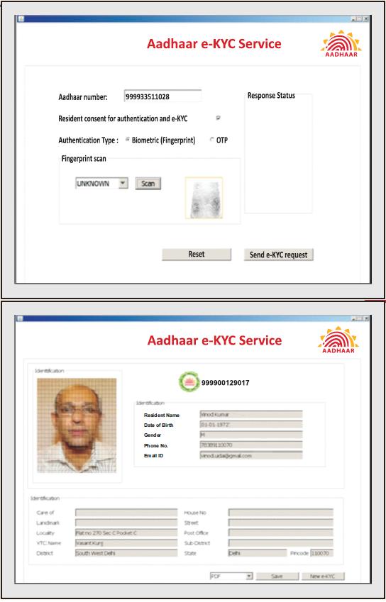 Aadhar e-KYC service