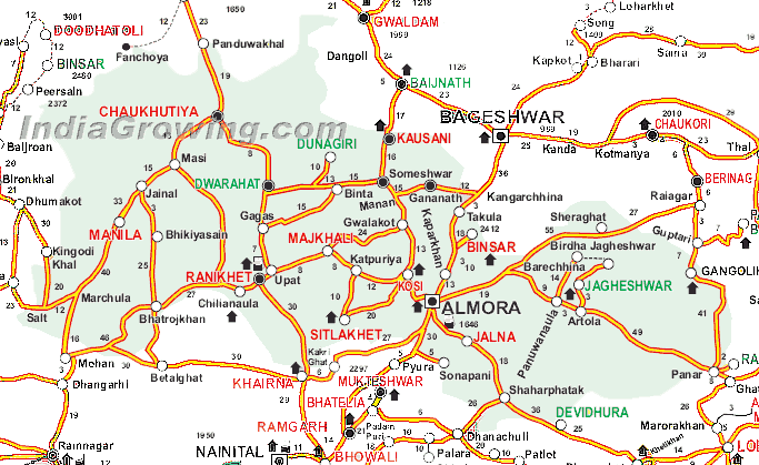 Almora District Map