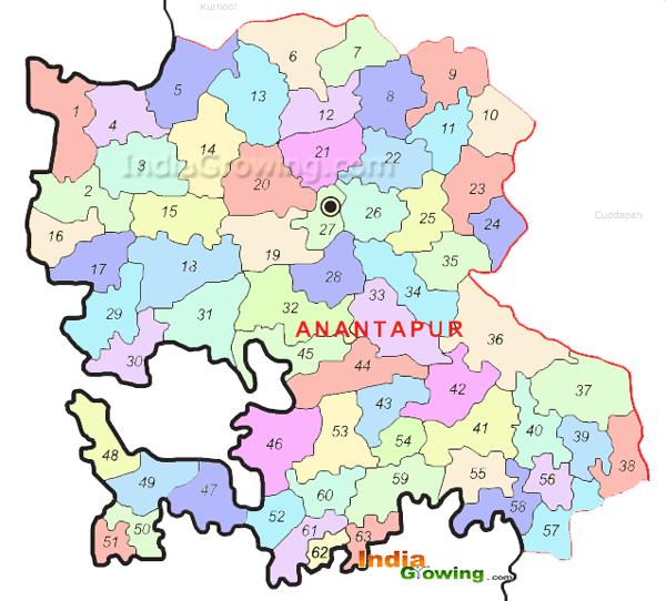 Anantapur District Mandals Map