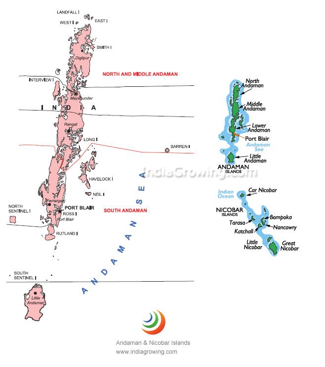 andaman and nicobar islands map
