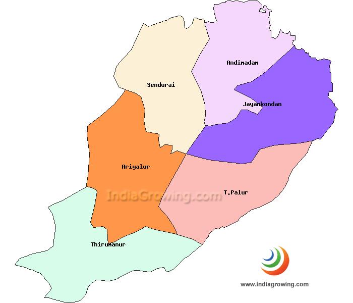 Ariyalur District Map