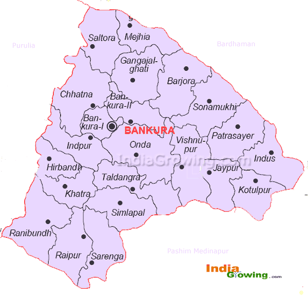 Bankura District Blocks Map