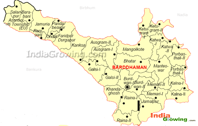 Bardhaman District Map