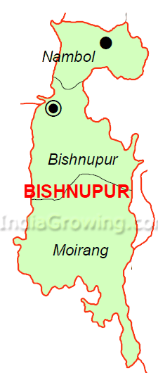 Bishnupur District Map
