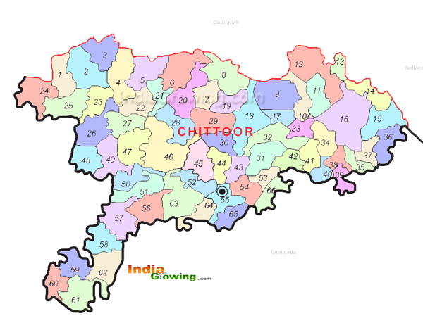 Chittoor District Mandals Map