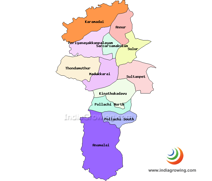 Coimbatore District Map
