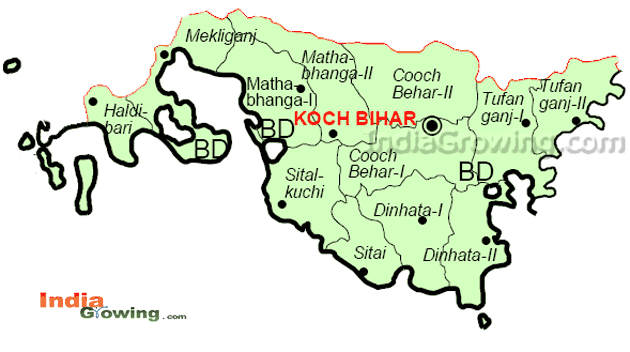 Cooch Behar District Map