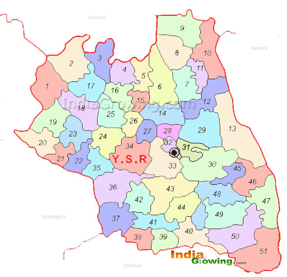Cuddapah District Map
