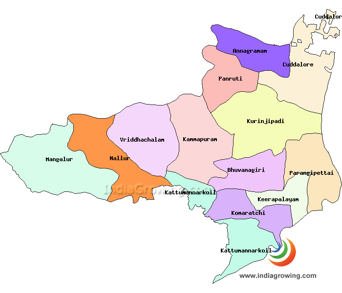 Cuddalore District Taluks Map