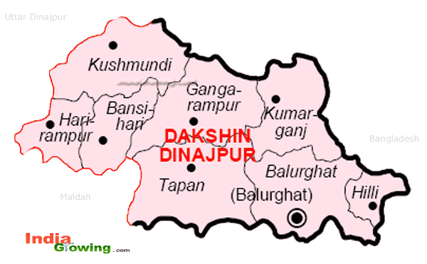 Dakshin Dinajpur District Blocks Map