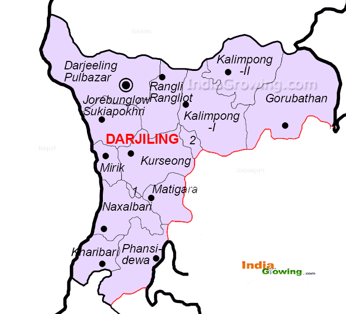 Darjeeling District Map