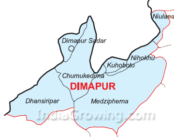Dimapur District Map