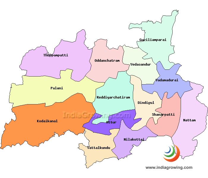 Dindigul District Map