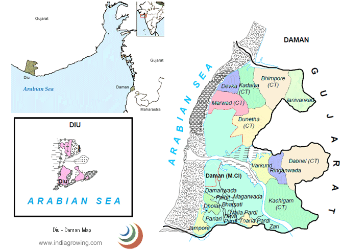 daman and diu map