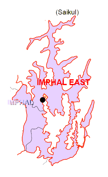 Imphal East District Subdivisions Map