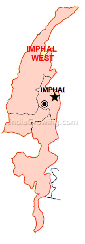Imphal West District Subdivisions Map
