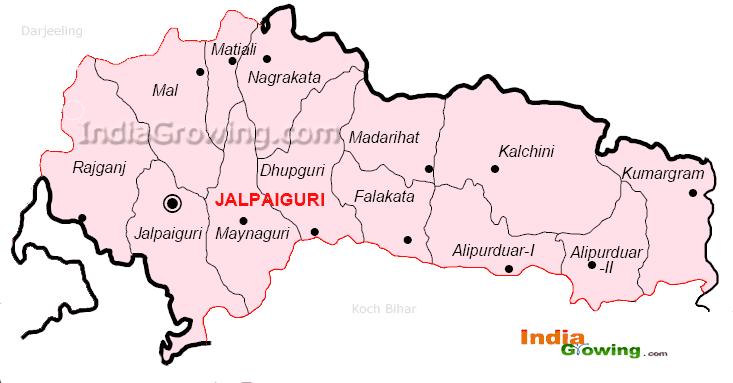 Jalpaiguri District Blocks Map