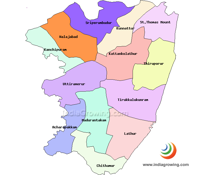 Kanchipuram District Map