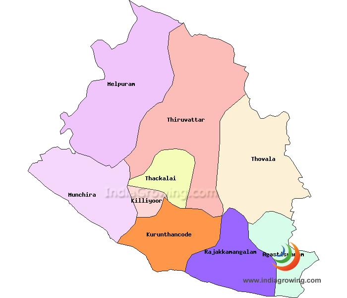 Kanyakumari District Taluks Map