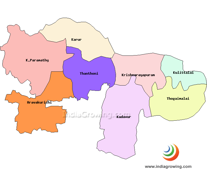 Karur District Taluks Map