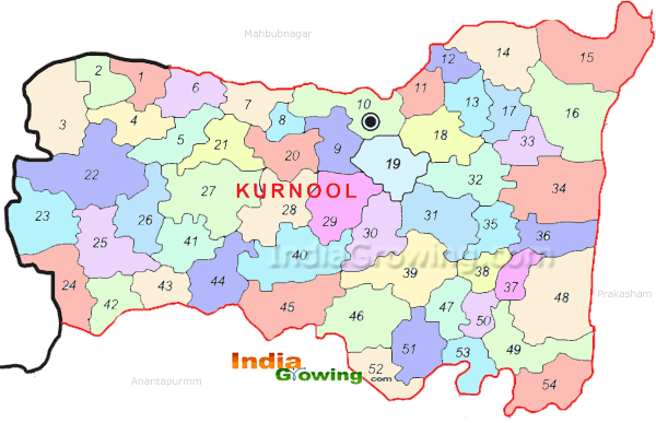 Kurnool District Mandals Map