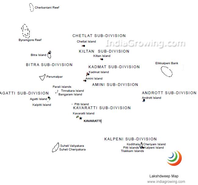 lakshdweep map