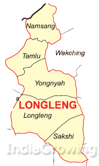Longleng District Subdivisions Map