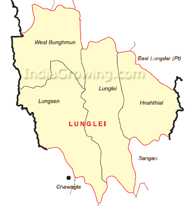 Lunglei District Map