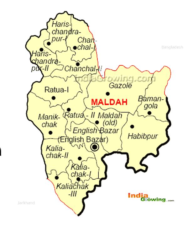 Maldah District Blocks Map