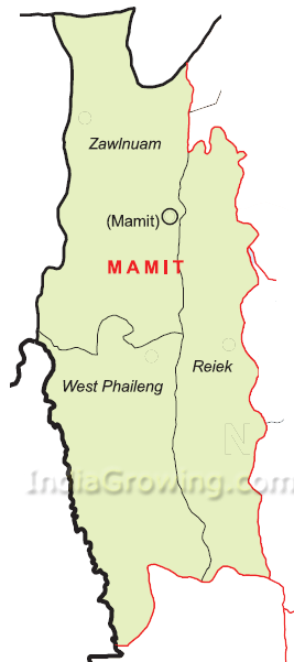 Mamit District Map