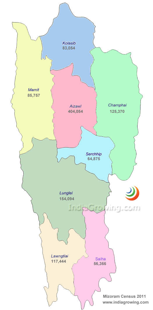 Mizoram Map