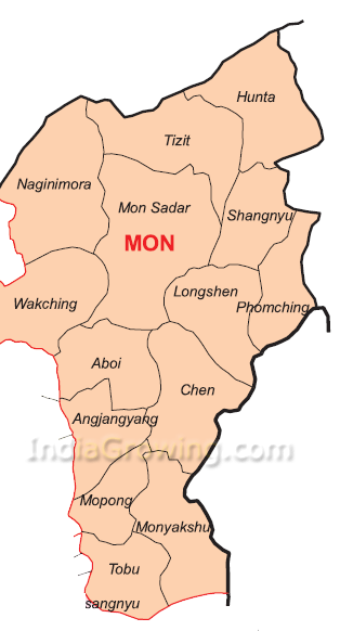 Mon District Map