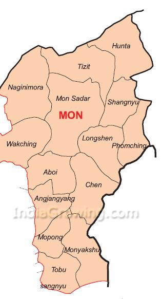 Mon District Subdivisions Map